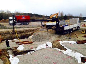Borrjobb med RD115/8 i Viared, Borås.